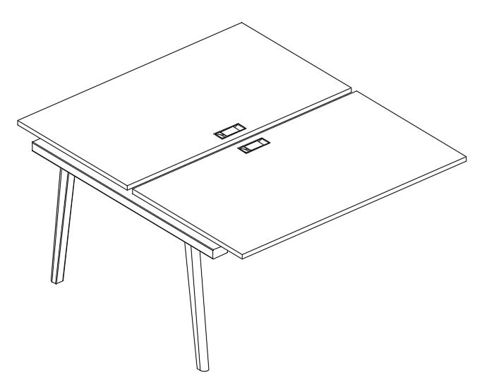 Секция стола рабочей станции (2х160)