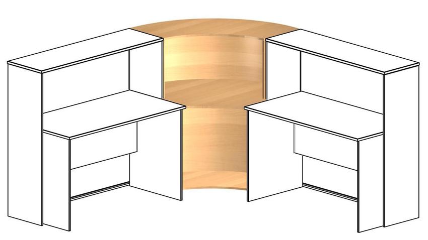 Угловой элемент промежуточный для столов глубиной 60см