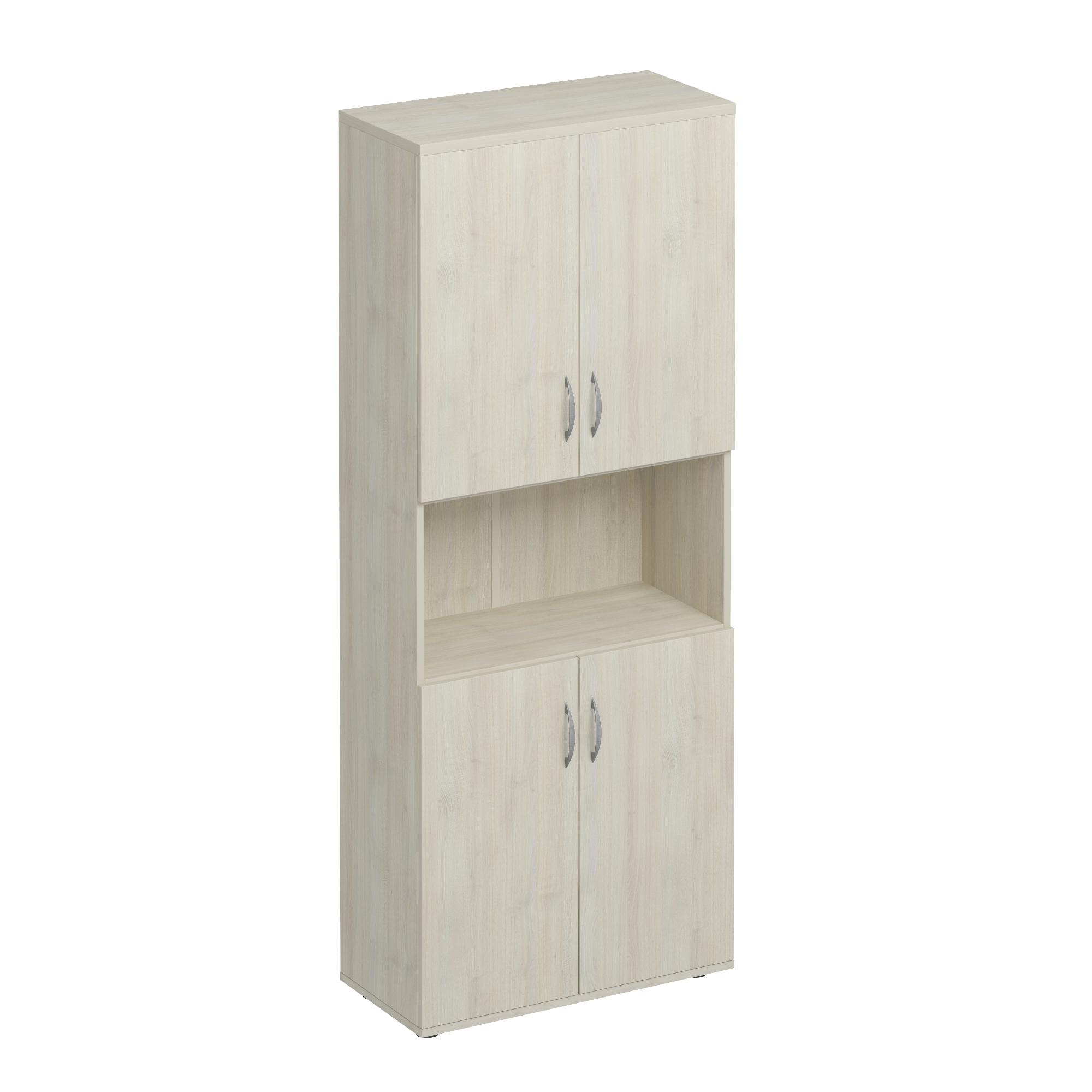 Шкаф для документов закрытый 4-дверный с нишей
