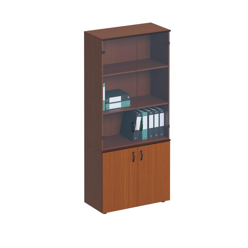 Шкаф для документов со стеклянными дверьми высокий