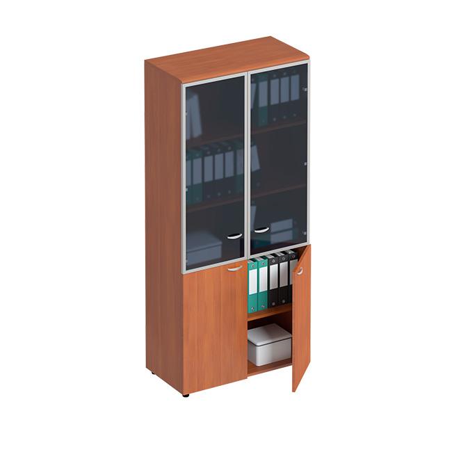 Шкаф для документов со стеклянными дверьми в рамке