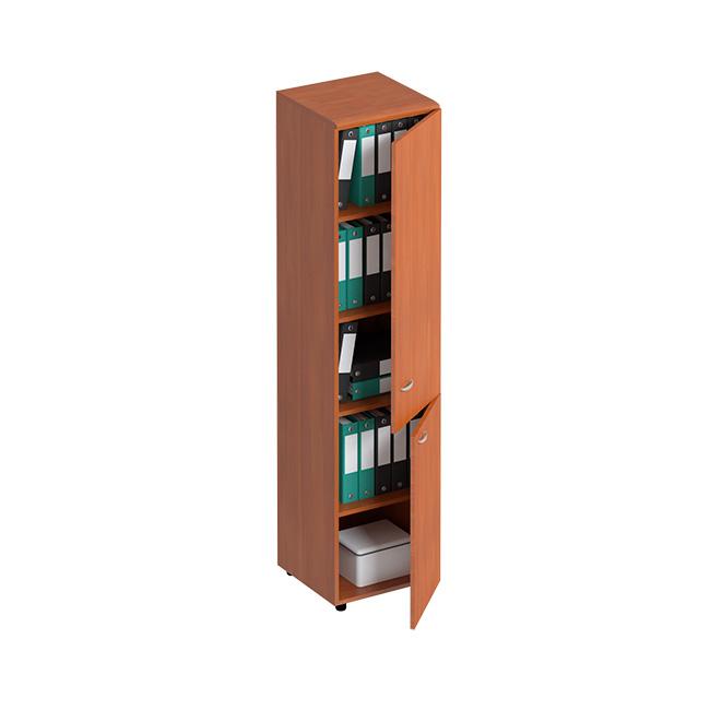 Шкаф для документов узкий закрытый 2-дверный