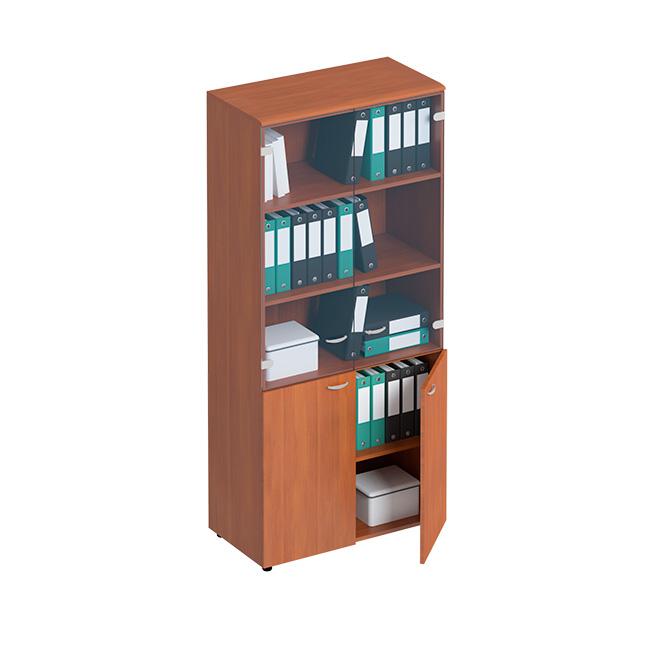 Шкаф для документов со стеклянными тонированными дверьми
