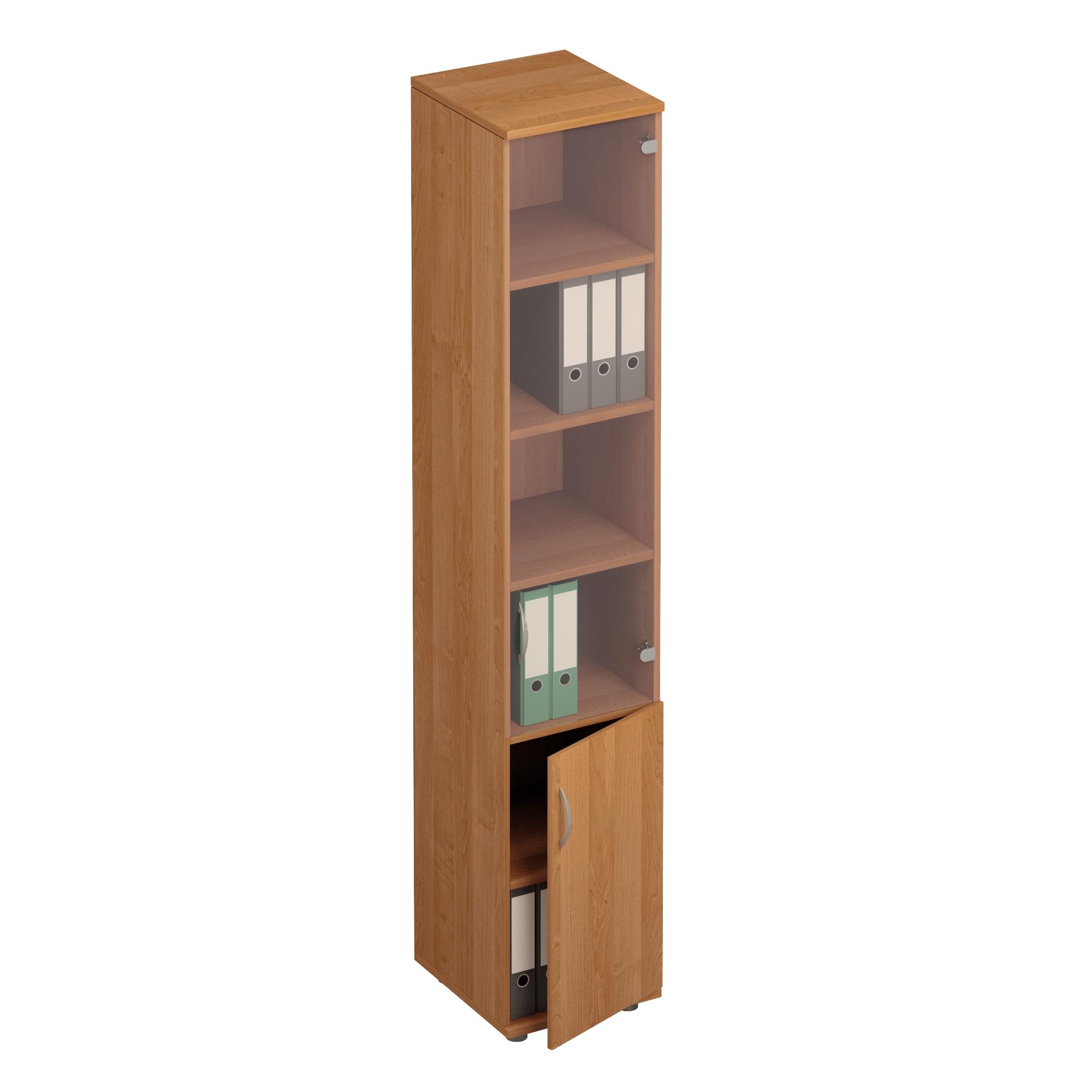 Шкаф для документов узкий со стеклом