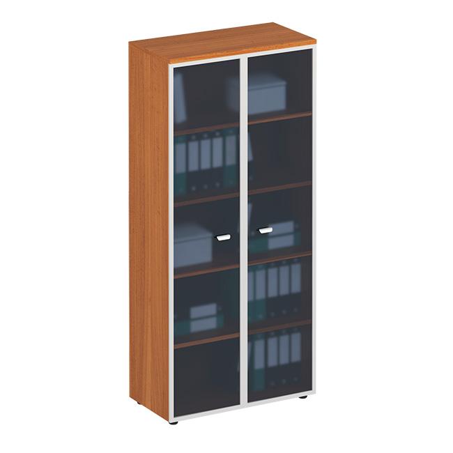 Шкаф для документов со стеклянными дверями в рамке