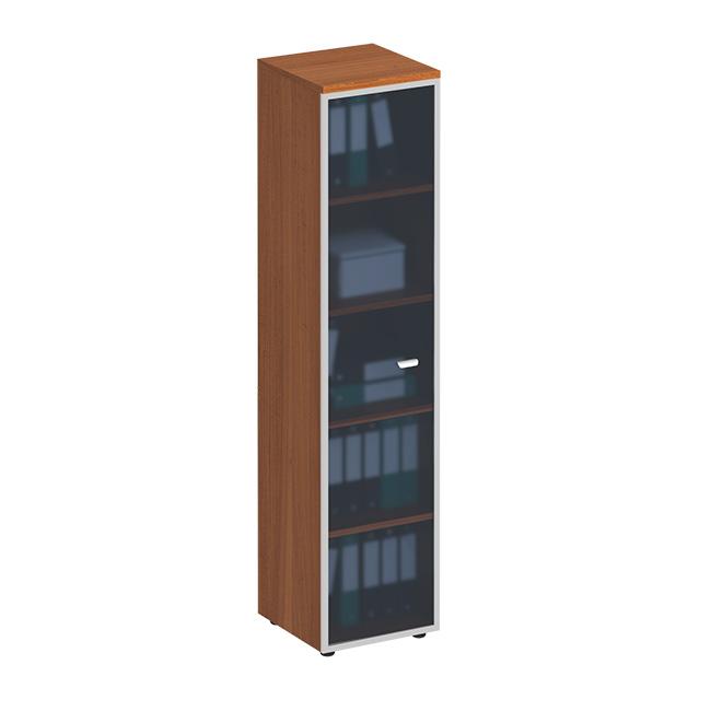 Шкаф  для документов со стеклянной дверью в рамке узкий