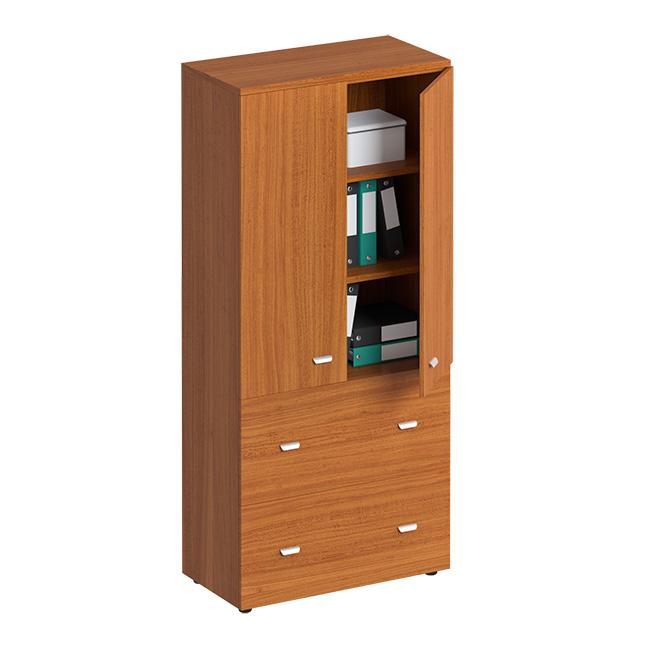 Шкаф для документов с ящиками закрытый, с файлами подвесного хранения