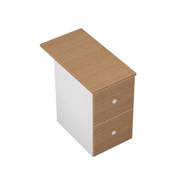 Тумба приставная 2-ящичная М (2 файловых ящика) с крышкой замком