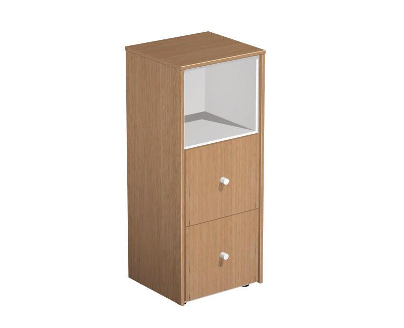 Шкаф для документов узкий с файловыми ящиками