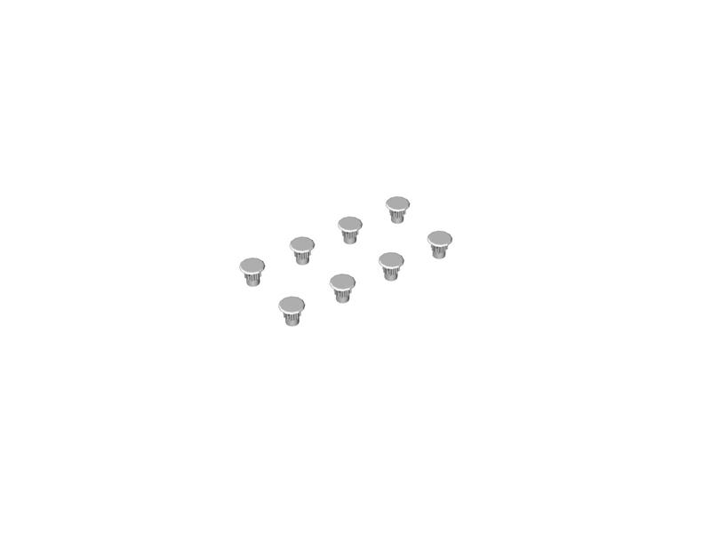Комплектующие: заглушка для шкафов D5 (комплект 82 шт.), белый