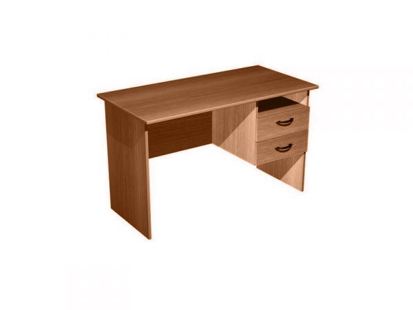 Стол письменный с правой подвесной тумбой 2 ящика + ниша