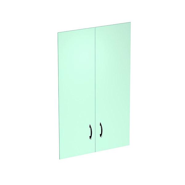 Дверь стеклянная комплект 2 шт, с фурнитурой