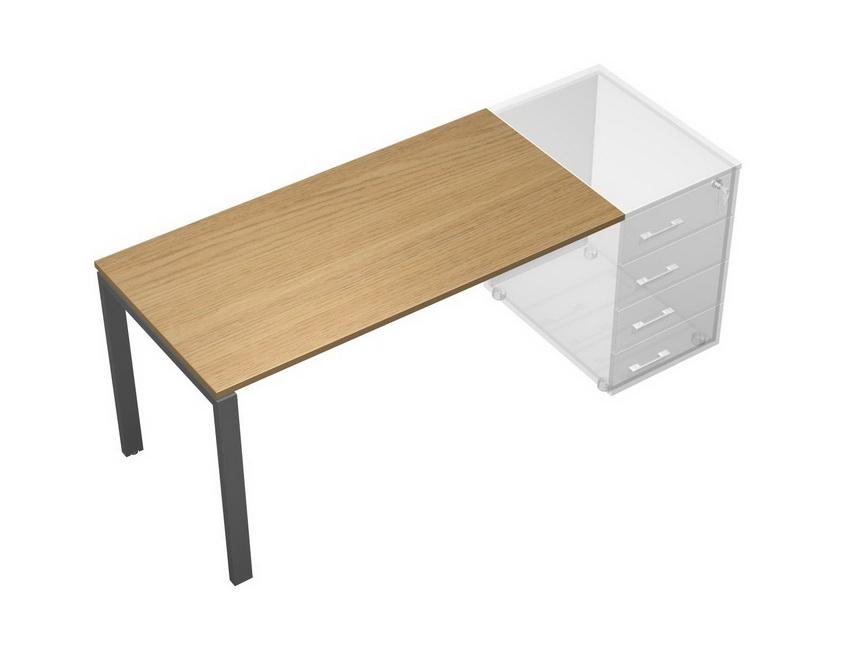 Стол письменный без опоры (тумбы приставной левой/правой)