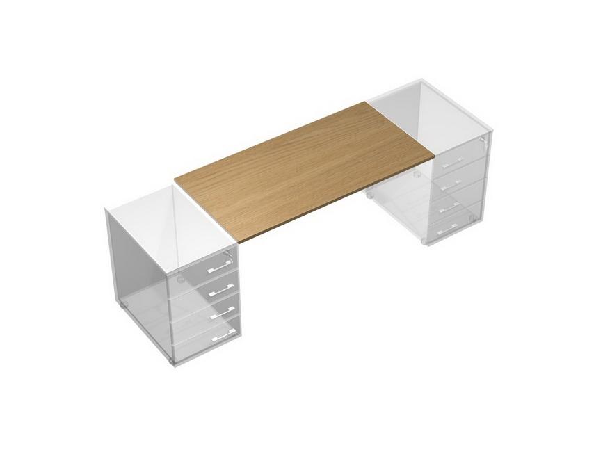 Рабочий стол без опор (без тумб приставных)