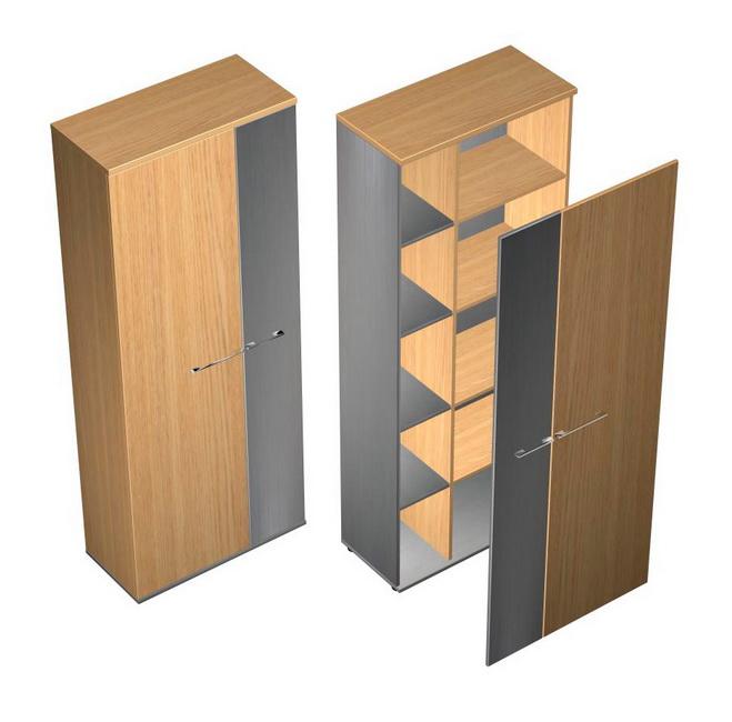 Шкаф комбинированный с узкой дверью левый/правый