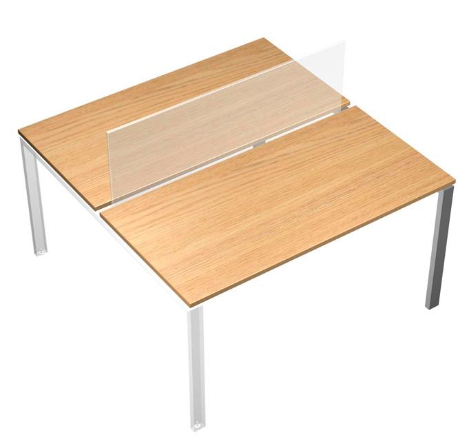 Рабочий стол (2х160) без одной опоры
